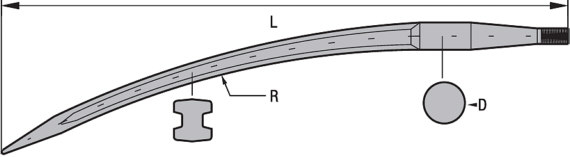 federstahlzinke gebogen ausf hrung doppel t profil shw. Black Bedroom Furniture Sets. Home Design Ideas